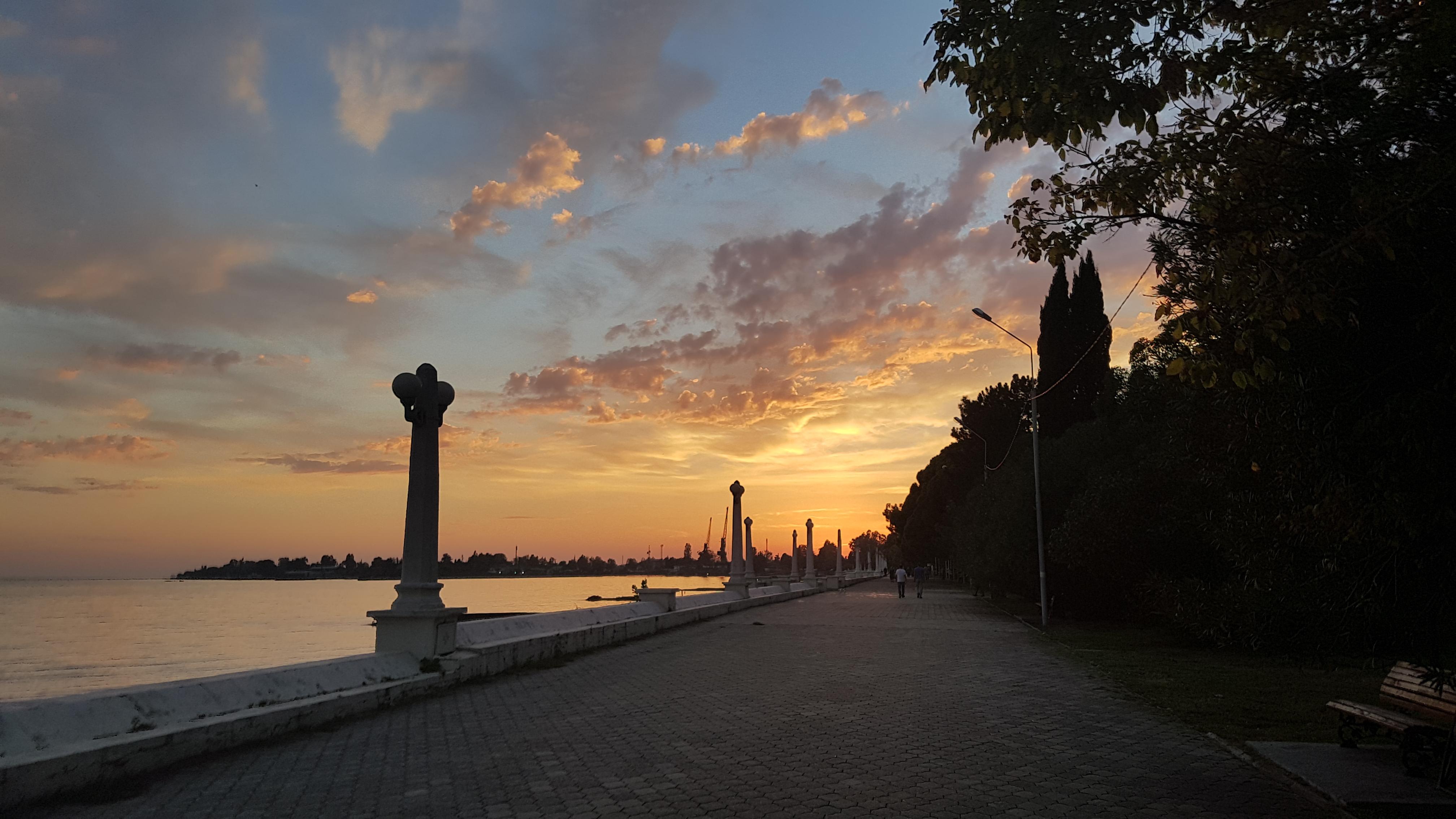 Walking around the coast in Sukhumi, the capital of Abkhazia