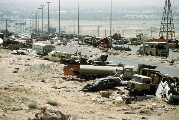 The Highway of Death links Kuwait and Iraq