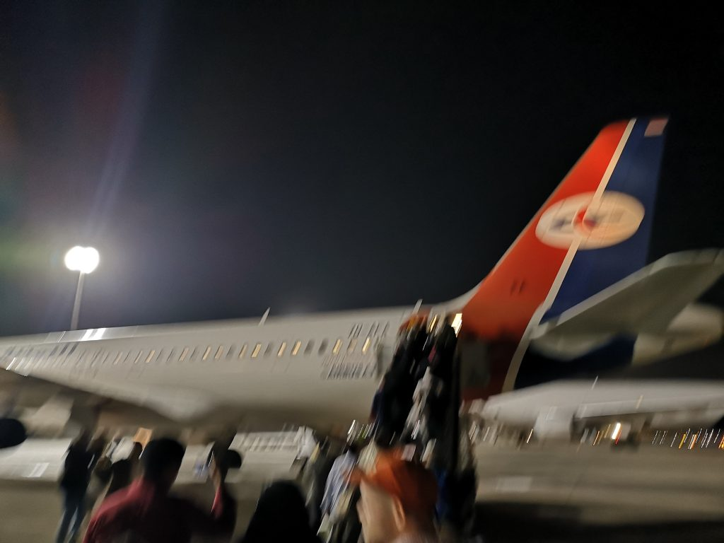 Boarding Yemen Airlines flight from Cairo to Socotra