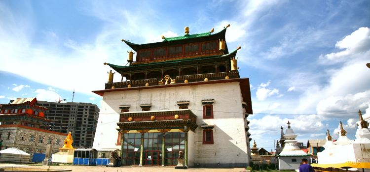 Gandantegchinlen Monastery in Ulaanbaatar.