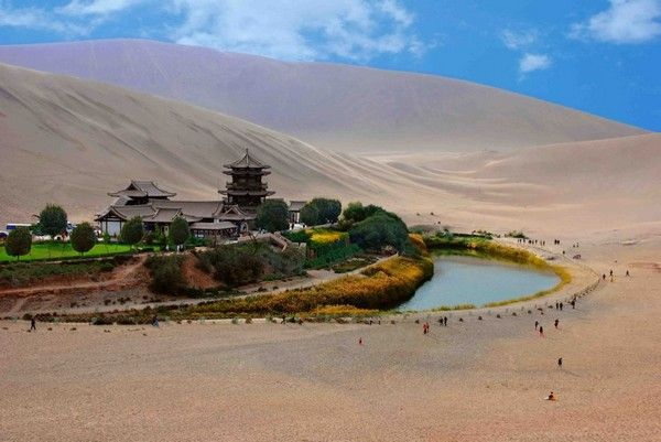 Crescent Lake Oasis in Western China.