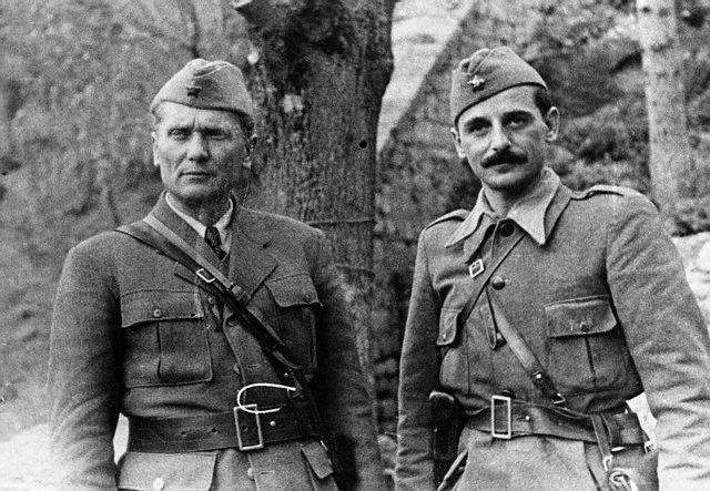 Marshal Tito and   General Koča Popović, Yugoslavia, 1943.