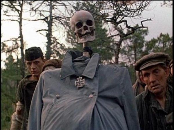 Skeleton of a nazi in the movie Come and See