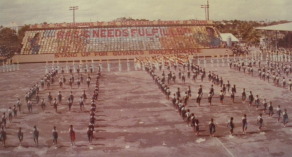 Co-Operative of Guyana mass games, inspired by the DPRK, another of the socialist governments