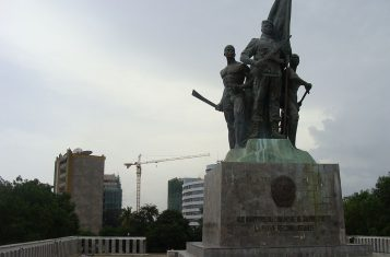 The place du Souvenir, commemorating the victims of the putsch attempt in Benin