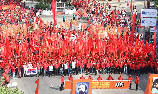 Sri Lankan May Day parade, an iconic symbol for socialist governments.
