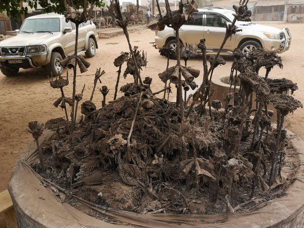 An altar of Iron, in the fetish market of Lome