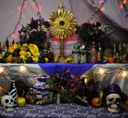 An altar of voodoo in Haiti