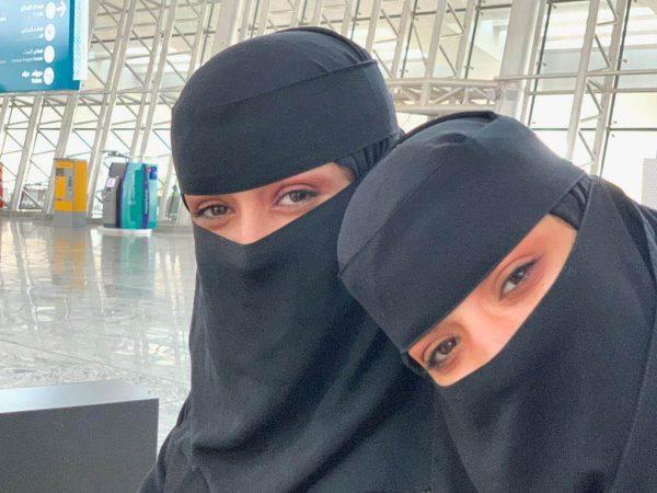 Women wearing niqabs in Saudi Arabia