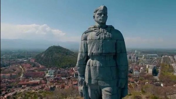 The statue of Alyosha in Plovdiv, Bulgaria, one of the best attractions of Plovdiv