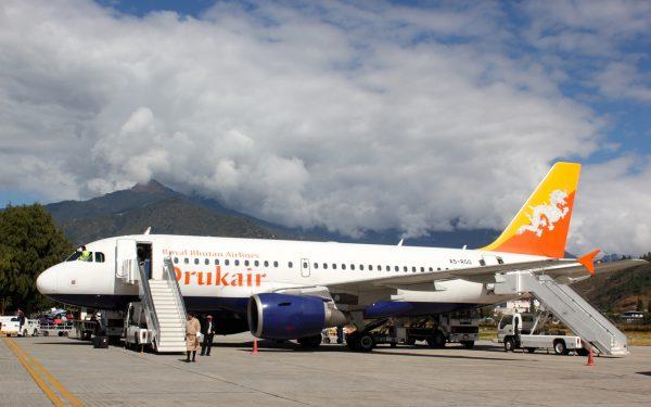 An airplane from Druk Air