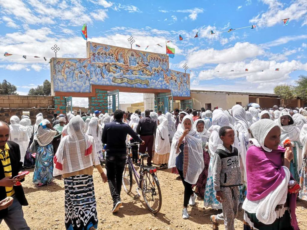 A religious festival in Asmara, capital of Eritrea