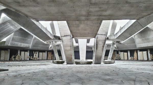 The hillock of fraternity, a brutalist monument of Bulgaria in Plovdiv