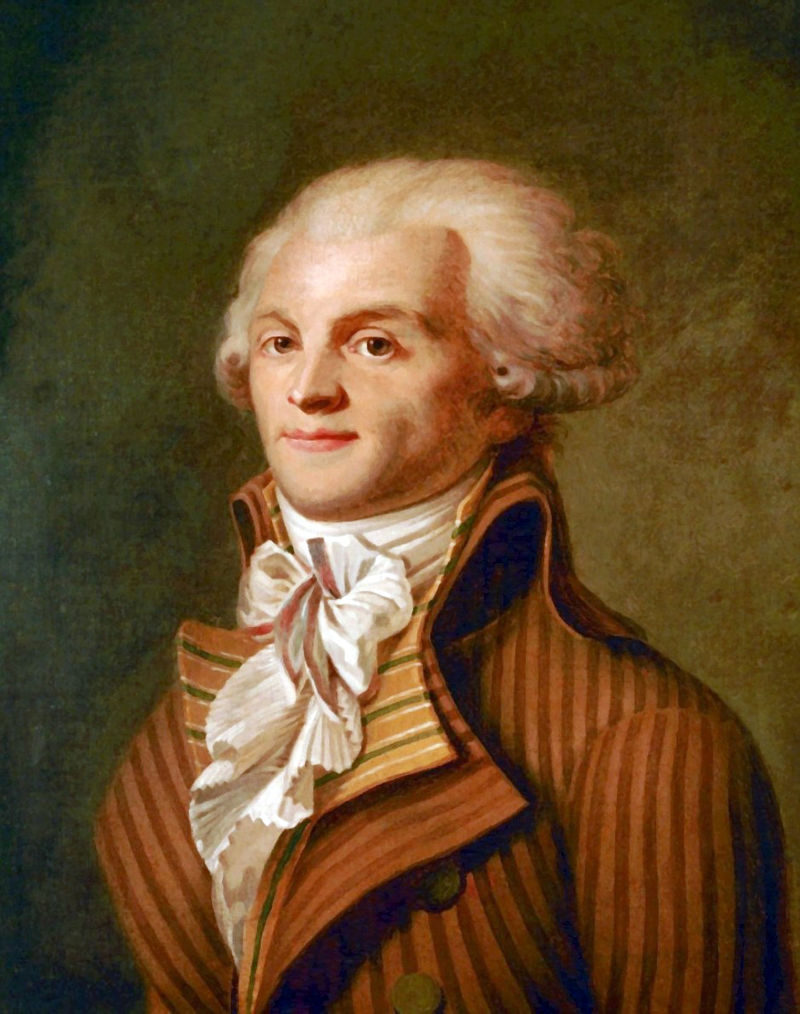 Maximilien Robespierre, figurehead of the French revolution at this time.
