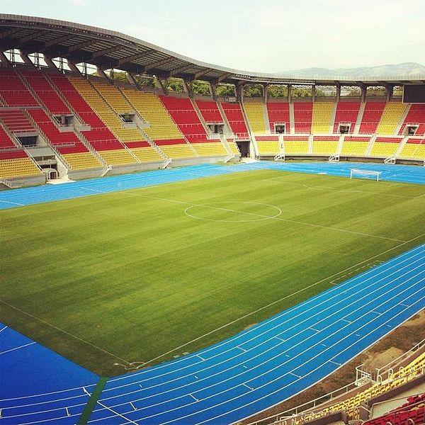 The national stadium in Skopje