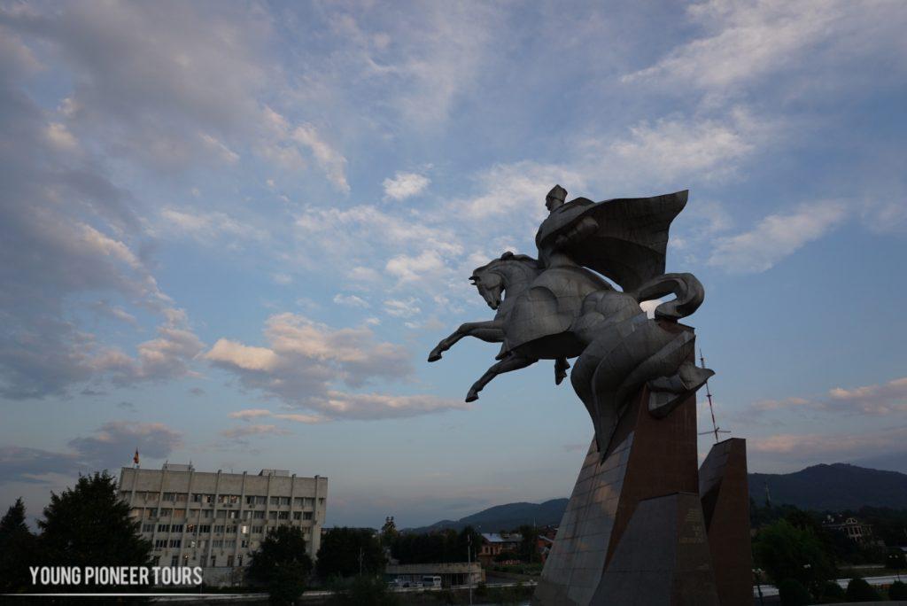 South Ossetia statue