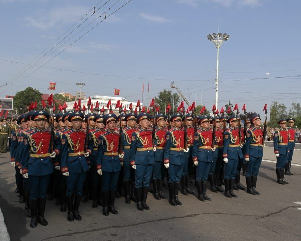 A parade in Transnistria, part of our tours of Moldova