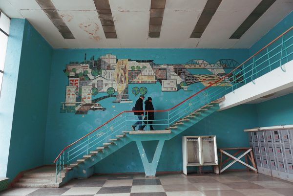 The interior of the train station of Bender, transnistria