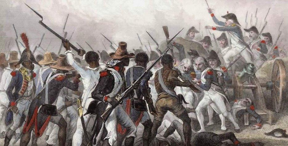 The battle of Vertières, decisive end to the Haitian revolution.