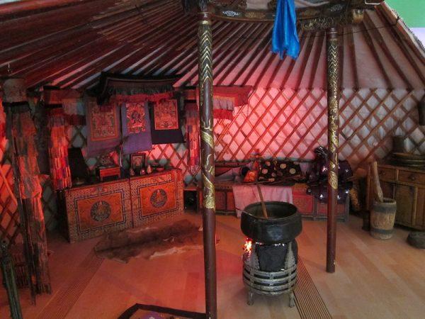 Interior of a Mongolian Ger