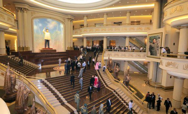 North Korean war museum staircase