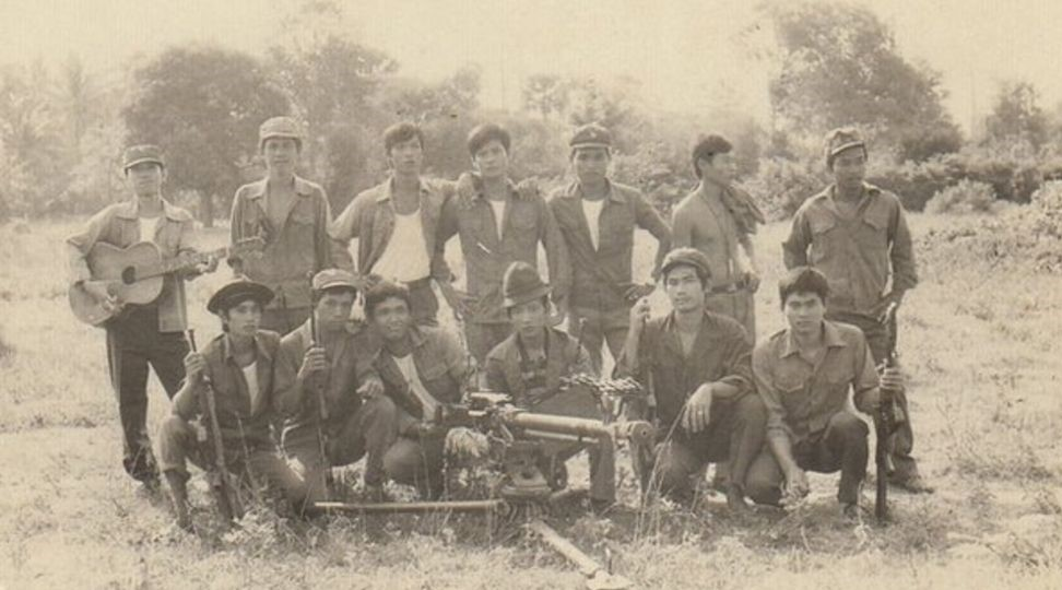 Vietnamese troops in Cambodia during the civil war
