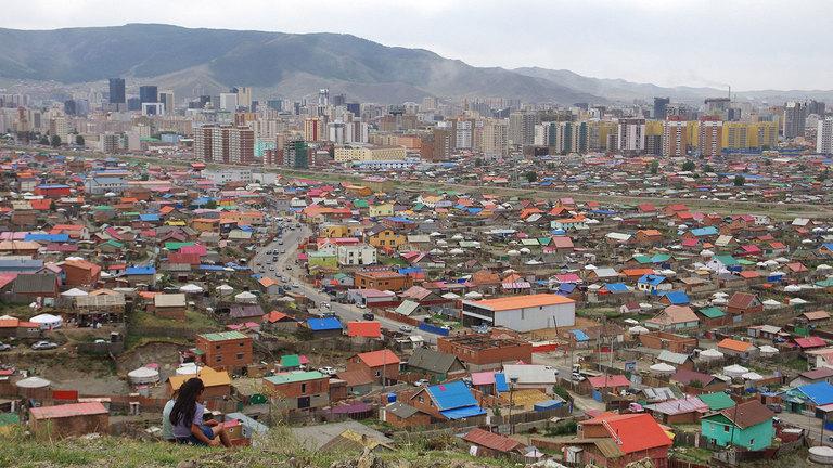 Outskirts of Ulaanbaatar, capital of Mongolia