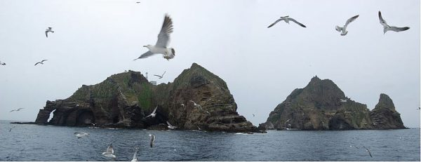 A panoramic view of Dokdo Islets