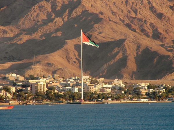 The flagpole at Aqaba, in Jordan