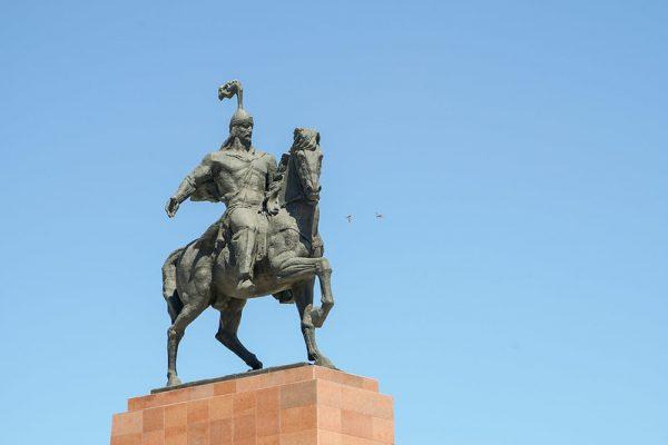 Manas, the national hero of Kyrgyzstan