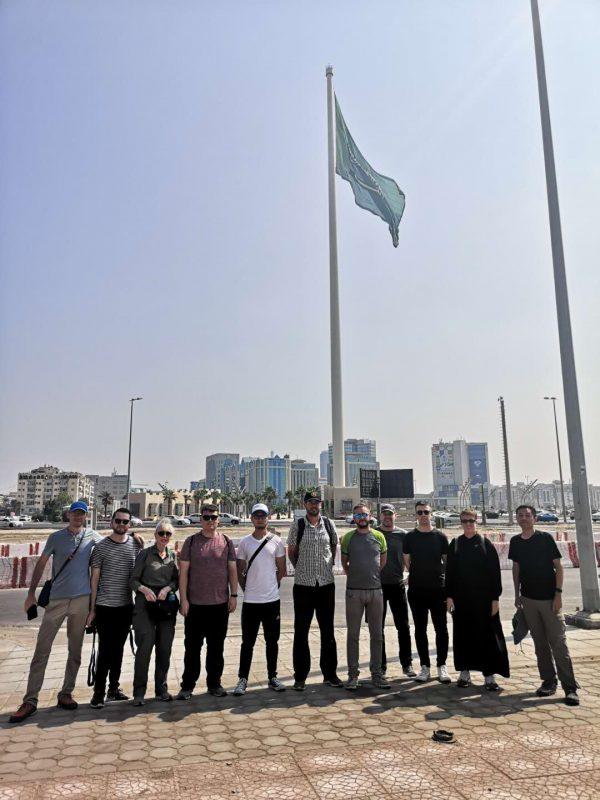 The world's tallest flagpole in Jeddah, Saudi Arabia