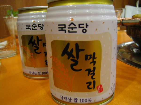 Commercialized South Korean Makkgeoli cans
