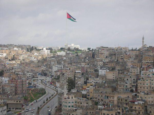 The tallest flagpole in Amman, Jordan
