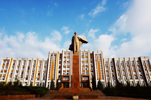 A statue of Lenin as seen during our Transnistria Tours 2021
