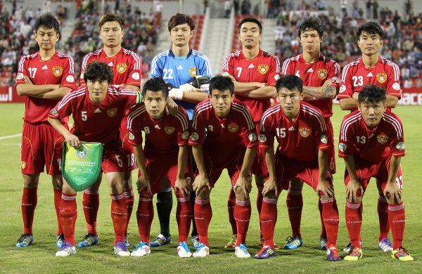 The national football team of China