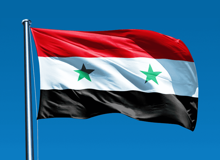 The flag of Syria