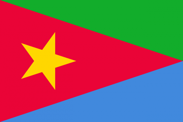 The flag of the Eritrean People's Liberation Front