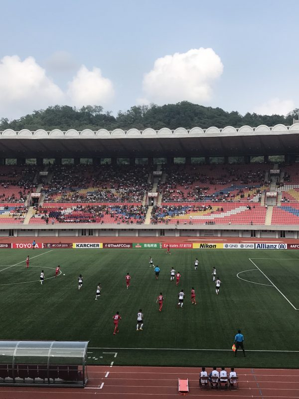 The football match in North Korea as seen