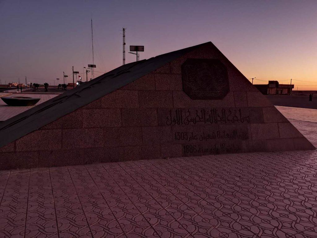 Historical border of Spanish Sahara