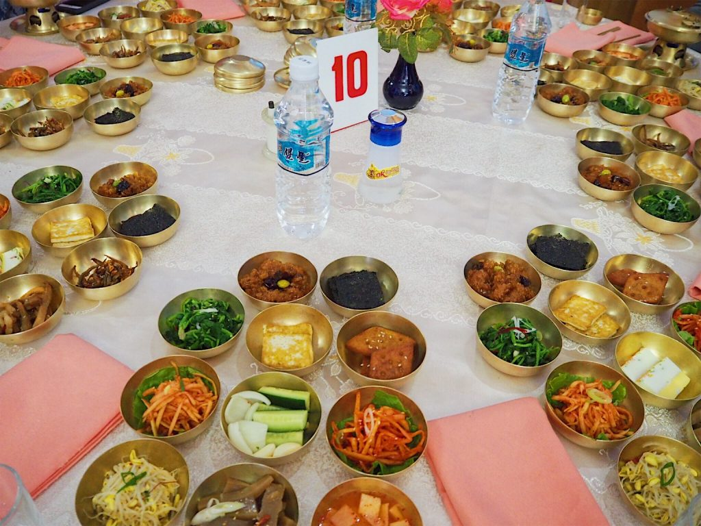 Kimchi amongst many other dishes as part of a Pansangi
