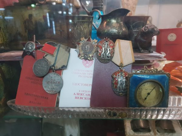 The kind of soviet artefacts you can haggle for in Kyiv the city of domes