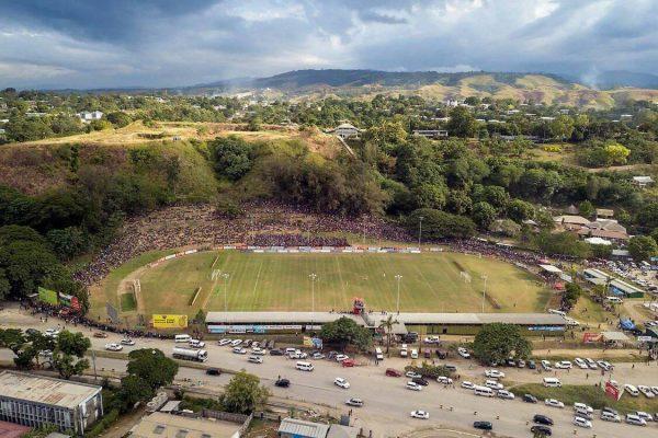 The Lawson Tama Football Stadium in the Solomon Islands