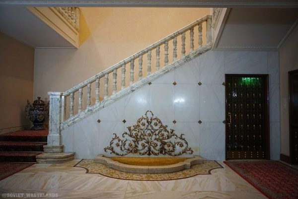 The stairs of Nicolae Ceausescu`s palace known as Casa Ceausescu, which can be visited on Bespoke Romania Tour