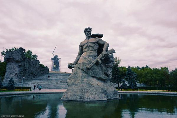 A Soviet Monument in Volgograd, formerly known as Stalingrad