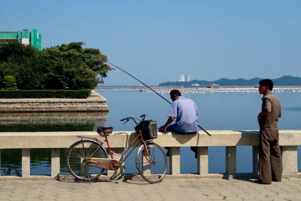 A fisherman by Wonsan beach