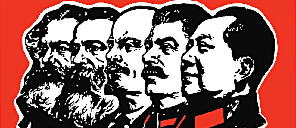 Marx, Engels, Lenin, Stalin and Mao. The latter three are often invoked as having countries that claim to be communist.