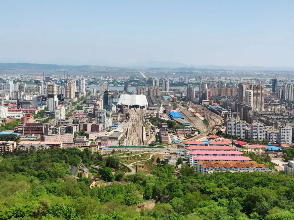 Dandong from Mt Jinjiang