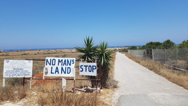 Signs of the No man's land of Cyprus