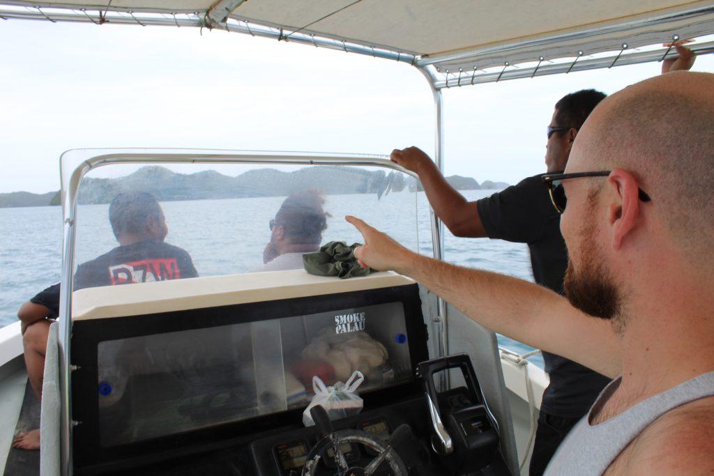 Cruising around Palau