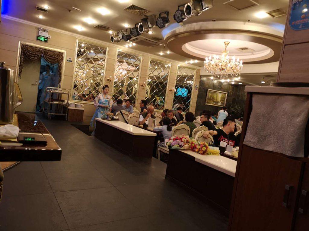 Inside a restaurant of the Pyongyang Restaurant Chain